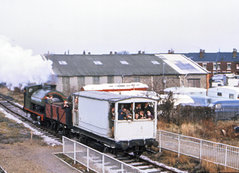 No. 6 on a passenger train in 1972