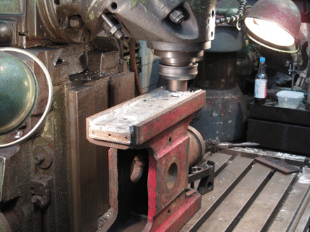 'milling a slipper in place in the crosshead