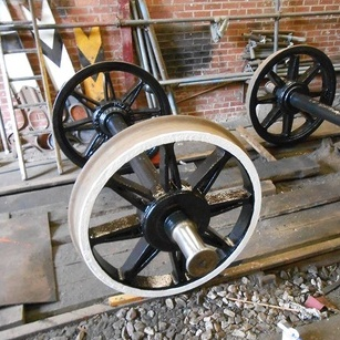 wheelsets in the workshop