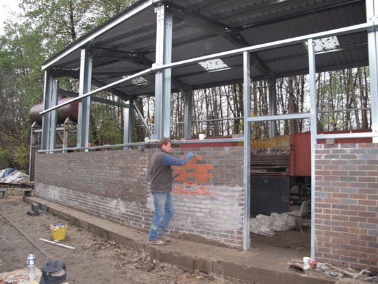 finishing the south east wall