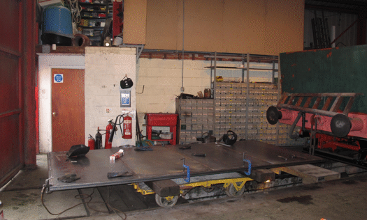 door under construction in the workshop