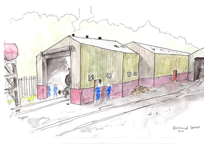 artist's impression of the running shed
