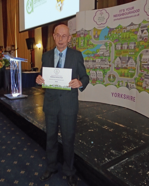 Mike with Award Certificate
