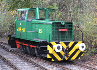 a recently-acquired diesel locomotive
