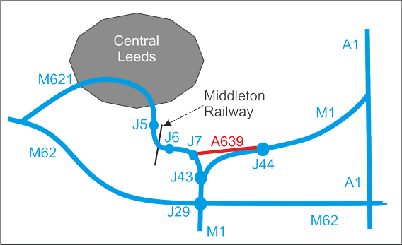 sketch map of main roads